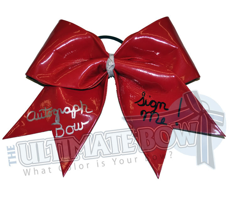 autograph-bow-red-sign-me-cheer-bow
