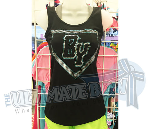 Baseball Youth Home Plate Rhinestone Tank Top