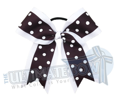 Big Dots Cheer Bow | Softball Bow | Polka Dots Cheer Bows