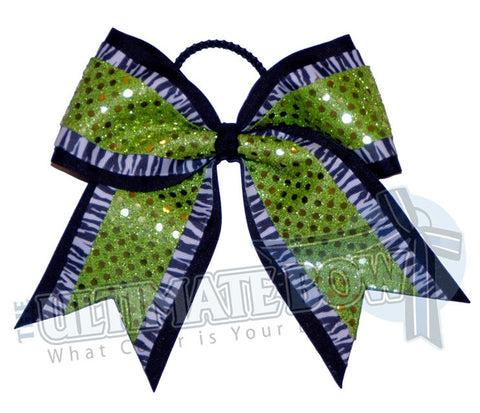 big-game-zebra-striped-cheer-bow-black-lime-green-sequin-dots
