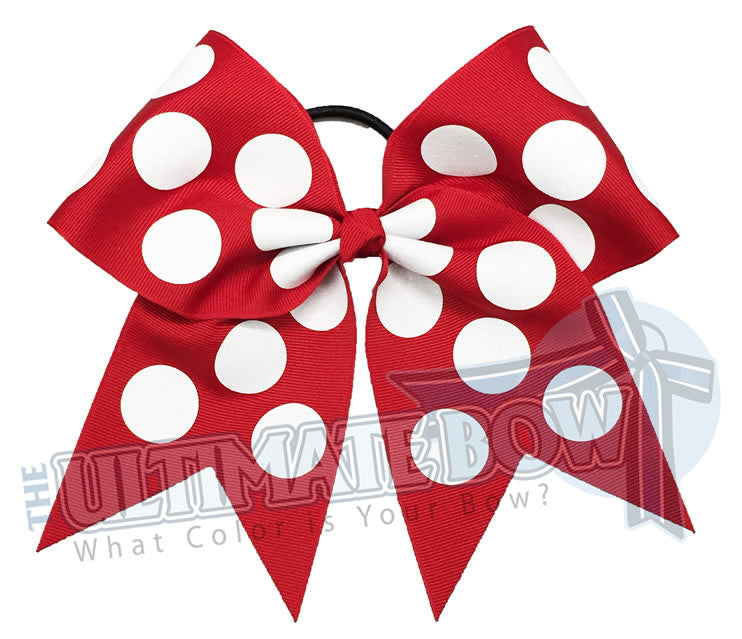 glitter-polka-dots-cheer-bow-red-white-glitter-softball-sparkle-minnie-disney