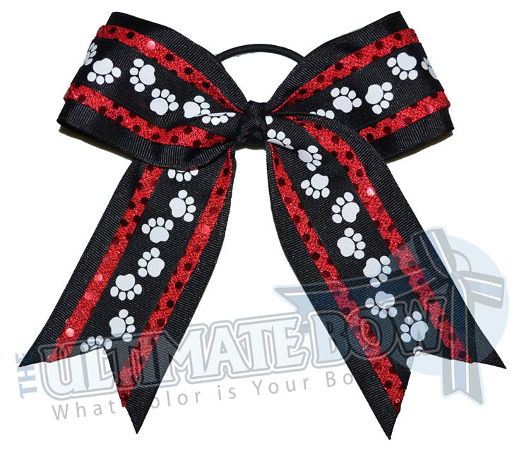 big-paws-cheer-bow-red-black-pawprint