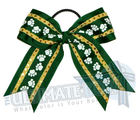 big-paws-cheer-bow-forestgreen-gold-black-pawprint