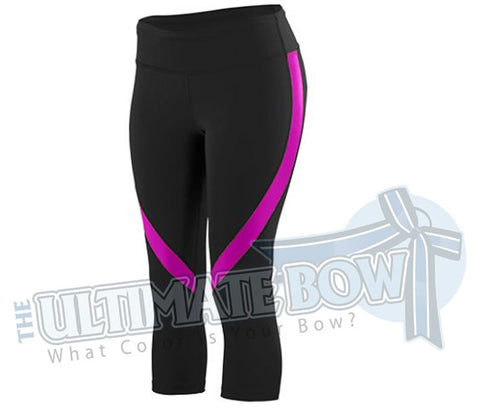 Boca Extreme - Black/Pink Capri Pants - Adult Sizes