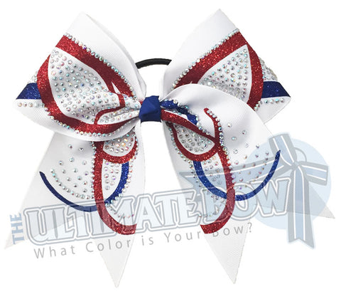 Butterfly Effect - Glitter and Rhinestone Cheer Bow | Competition Cheer Bow