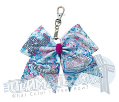 CDE Grand National Championship by the Sea Glitter Key Chain Cheer Bow