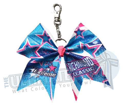 Cheer and Dance Extreme - Richmond Classic 2019 Key Chain Glitter Cheer Bow