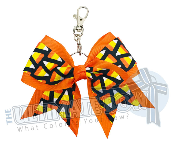 Candy-Corn-Key-Chain-Bow-Halloween-Keychain