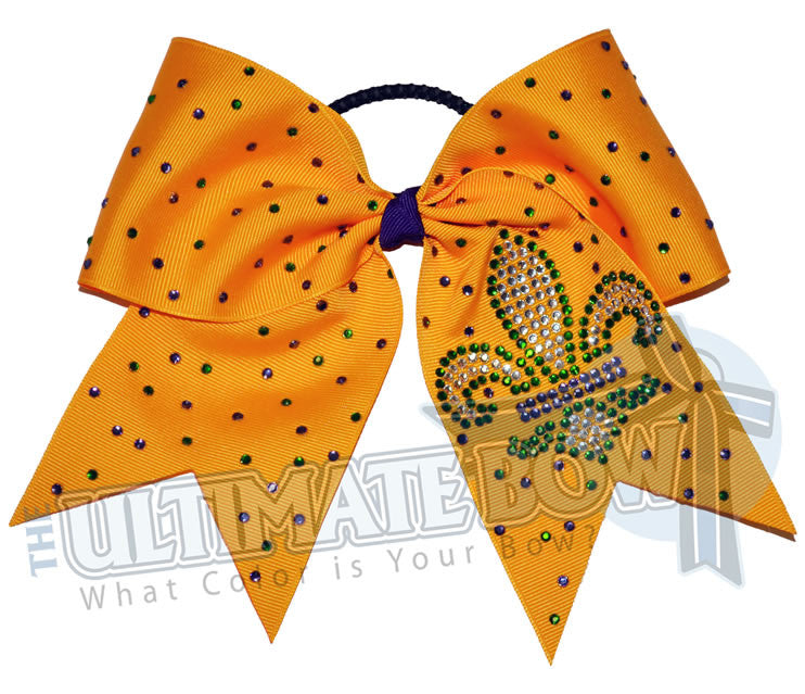 Mardi-gras-cheer-bow-yellowgold-fluerdelis