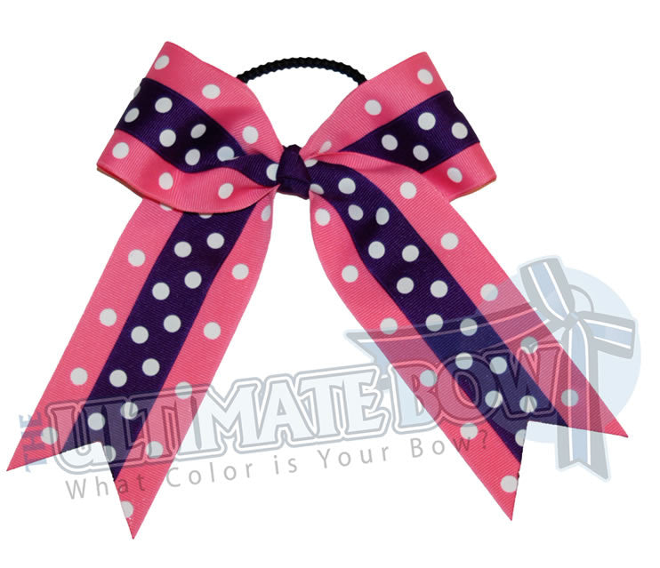 Cheer-dots-cheer-bow-hot-pink-purple-polka-dots