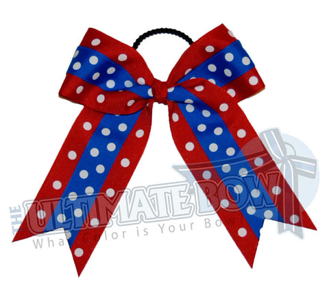 Cheer-dots-cheer-bow-red-electric-blue-polka-dots