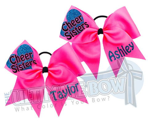 Cheer Sisters Cheer Bow Set | Personalized Cheer Bows
