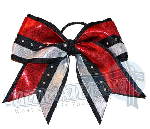 Cheer Uniform's Perfect Match | Mystic Competition Bow | Rhinestone Cheer Bow