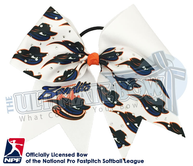 Chicago-Bandits-Hair-bow-softball-licensed-official-logo-professional-softball-NPF-National_Pro_Fastpitch-Softball-League