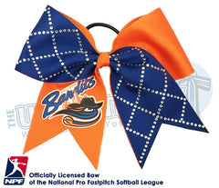 Chicago Bandits -Hair-bow-softball-licensed-turn-two-official-logo-professional-softball-NPF-National_Pro_Fastpitch-Softball-League