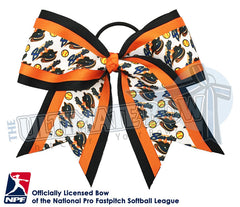 Chicago Bandits -Hair-bow-softball-licensed-triple-play-official-logo-professional-softball-NPF-National_Pro_Fastpitch-Softball-League
