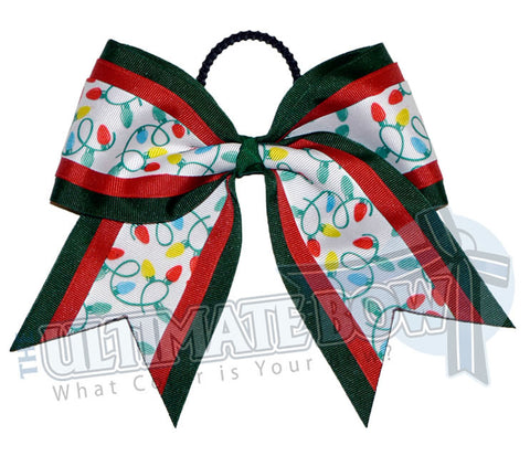 Christmas Lights Cheer Bow | Christmas Hair Bow