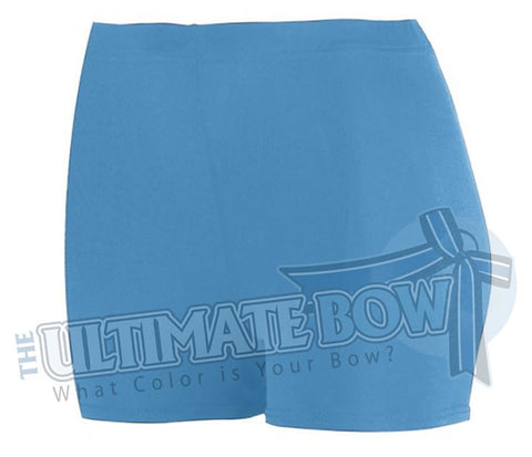 Ladies-Spandex-spanks-boy-cut-shorts-columbia-blue-1210-Augusta-Sportswear-cheerleading-softball-soccer-volleyball-workout