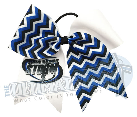 Custom-printed-logo-chevron-cheer-bow-softball