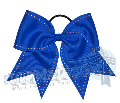 Cutting Edge Rhinestones Cheer Bow