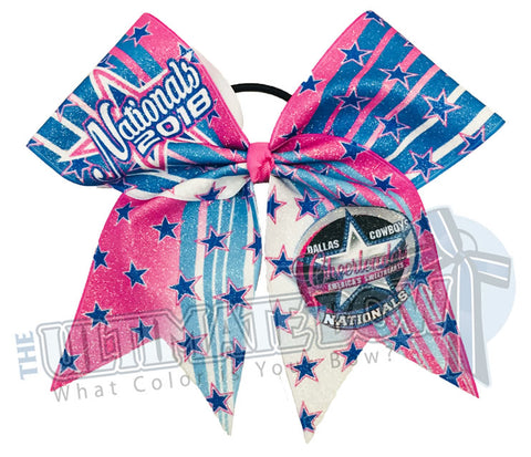 Spirit Celebration - Dallas Cowboys Cheerleaders (DCC) Nationals 2018 Event Glitter Bow