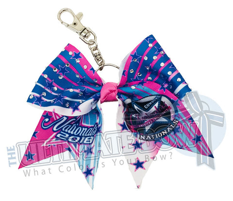 Spirit Celebration - Dallas Cowboys Cheerleaders (DCC) Nationals 2018 Event Key Chain Bow