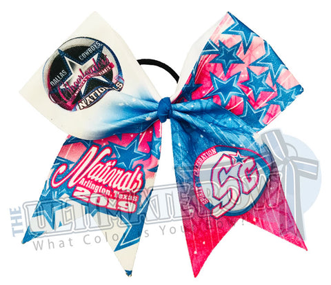 Spirit Celebration - Dallas Cowboys Cheerleaders (DCC) Nationals 2019 Event Glitter Bow