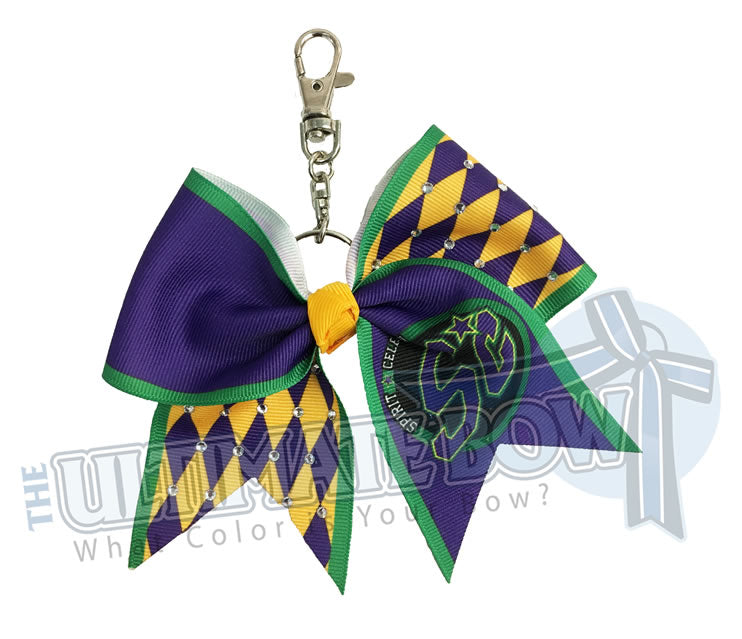 Spirit-Celebration-Special-Events-Varsity-Cheer-Key-Chain-Rhinestones-Keychain