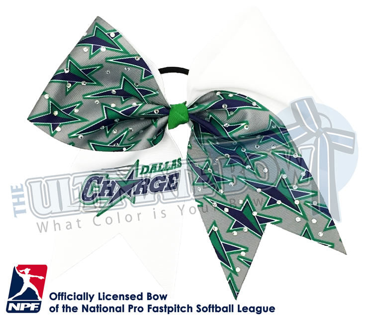 Dallas-Charge-Hair-bow-softball-licensed-official-logo-professional-softball-NPF-National_Pro_Fastpitch-Softball-League