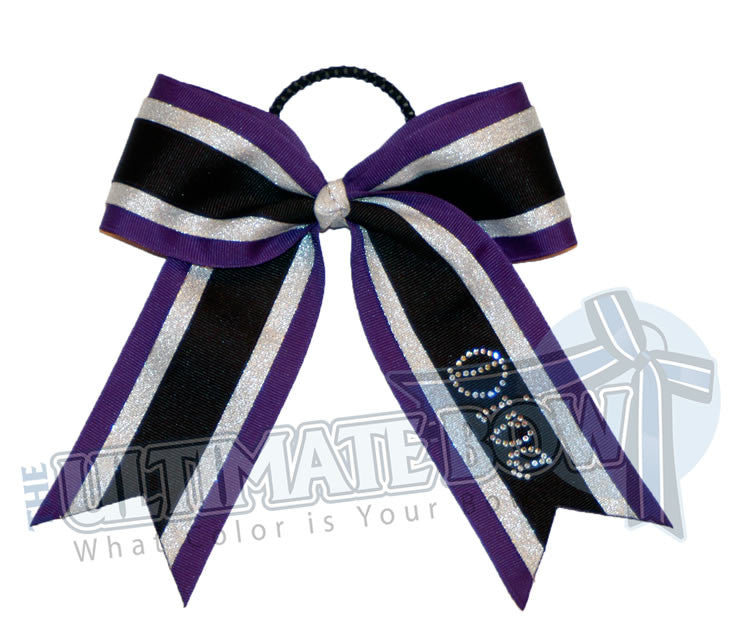 Diva-bling-cheer-bow-black-silver-purple-rhinestone
