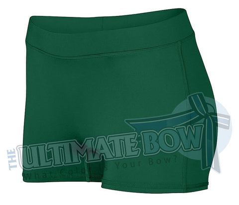 Ladies-Dare-Spandex-spanks-boy-cut-shorts-dark-green-forest-1232-Augusta-Sportswear-cheerleading-softball-soccer-volleyball-workout