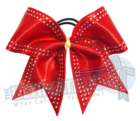 Superior Double-Edged Rhinestone Cheer Bow | Competition Cheer Bow | Rhinestone Cheerleading Bow