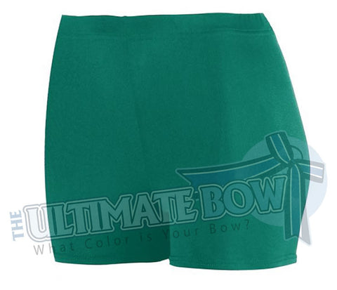 Ladies-Spandex-spanks-boy-cut-shorts-dark-green-forest-1210-Augusta-Sportswear-cheerleading-softball-soccer-volleyball-workout