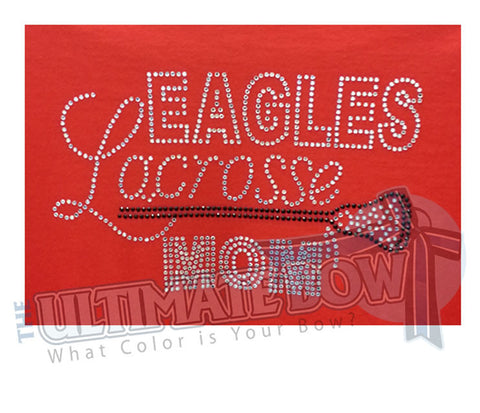 Rhinestone Lacrosse Mom T-Shirt - Any Team Name
