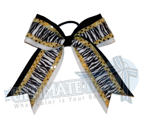 electric-zebra-yellowgold-black-white-stripes-sequins-cheer-bow