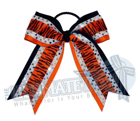 electric-zebra-orange-black-silver-stripes-sequins-cheer-bow