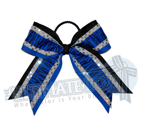 electric-zebra-blue-black-silver-stripes-sequins-cheer-bow