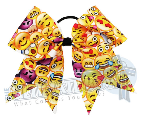 Emoji Mayhem Cheer Bow