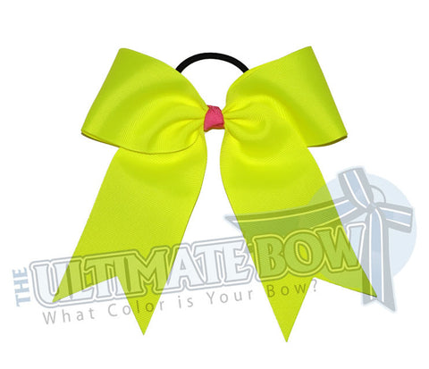Essentials-basic-plain-neon-yellow-cheer-bow