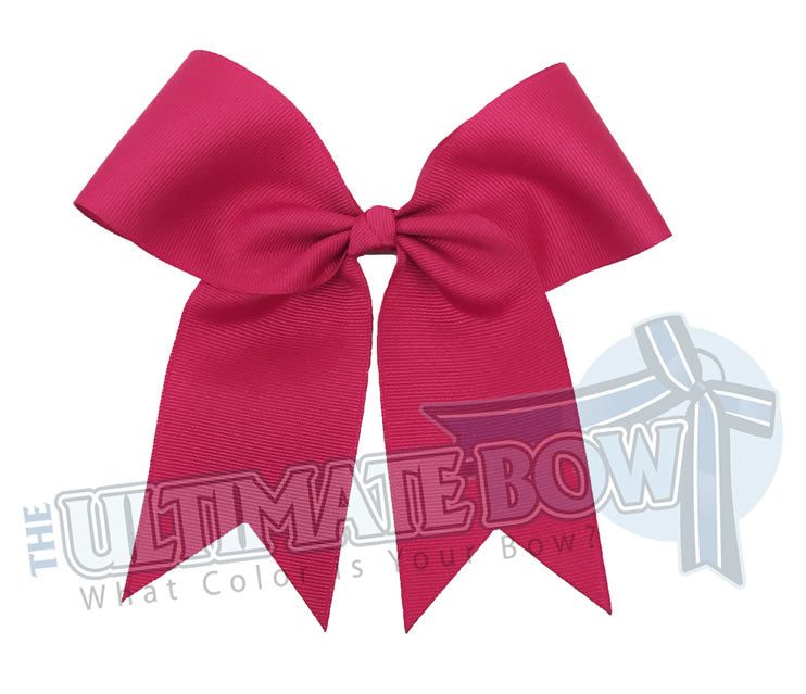 practice cheer bow | solid color cheer bow | small cheer bow | 2.25 inch grosgrain cheer bow | Pink Cheer Bow