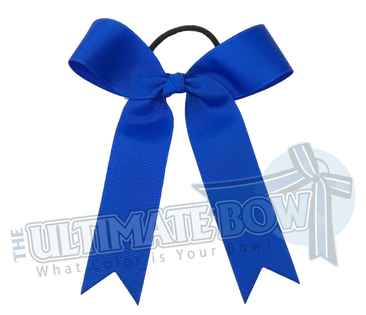 College Cheer Bows | Collegiate Cheer Bows | Plain Ribbon Cheer Bows | Electric Blue Cheer Bows