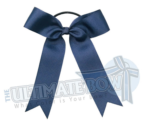 College Cheer Bows | Collegiate Cheer Bows | Plain Ribbon Cheer Bows | Navy Cheer Bows