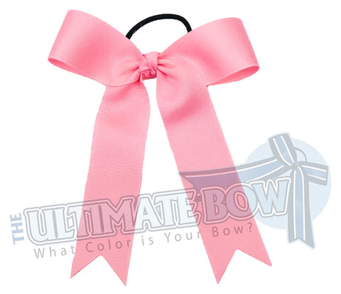 College Cheer Bows | Collegiate Cheer Bows | Plain Ribbon Cheer Bows | Pink Cheer Bows