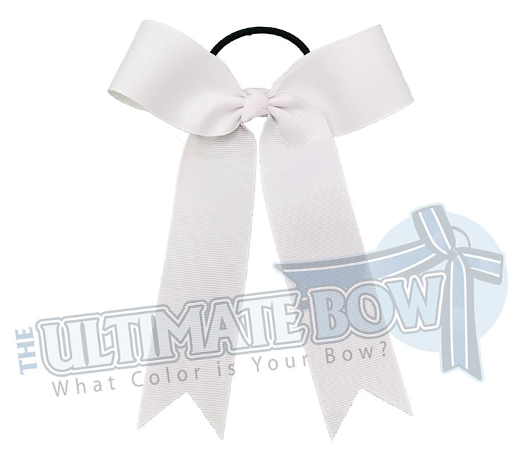 College Cheer Bows | Collegiate Cheer Bows | Plain Ribbon Cheer Bows | White Cheer Bows