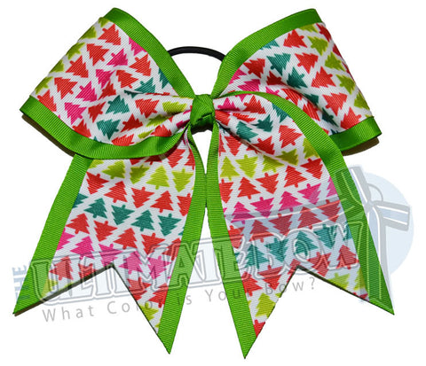festive-trendy-Christmas-trees-cheer-bow-apple-green-holiday