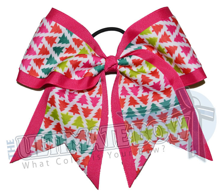festive-trendy-Christmas-trees-cheer-bow-shocking-pink-holiday