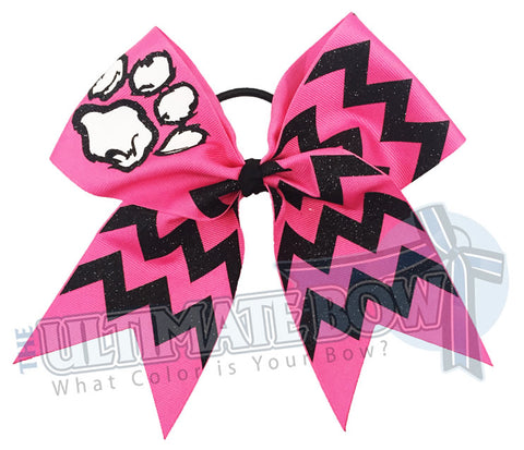 paw-print-fierce-glitter-chevron cheer-bow-pink-black-glitter-softball-sparkle