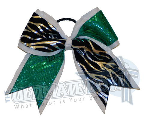 Fire-ice-cheer-bow-silver-flames-white-kelly-green