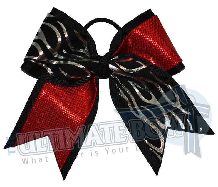 Fire-ice-cheer-bow-silver-flames-black-red