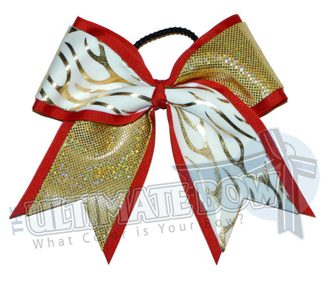 Fire-ice-cheer-bow-gold-flames-red-gold
